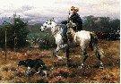 Józef Brandt (1841-1915) Gajowy.  1886. Olej na płótnie. 45 x 60 cm.