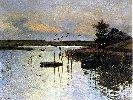 Józef Chełmoński (1849-1914)  Kaczki nad wodą.  1880. Olej na płótnie. 66 x 90 cm.