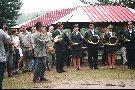 Otwarcie V Memoriału im. M. Sołtysinkiego Tuchola 19-07-03 Tuchola. Orkiestra z Czech uświetnia ceremonie otwarcia.