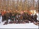 pokot na ostatnim polowaniu Koła Łowieckiego Bażant z Oławy które odbyło sie 2 stycznia 2004 roku