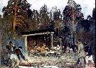 """Julian Fałat - """"Polowanie w Nieświeżu""""  Ok. 1902r., Olej na płótnie."""