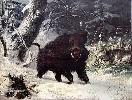 """Deiker Carl Friedrich - """"Odyniec w zimowym lesie"""""""