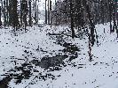 Strumyk zimą