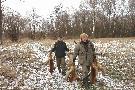 Powrót z polowania na lisy, taki wynik nie zdarza się często.