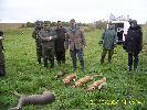 Polowanie lisiarkie na Nowej Karczmie 2007 prowadzący łowczy Kazimierz Kleist Koło Nemrod Kościerzyna