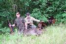 ten z prawej to ja na stażu i psy, które doszły postrzałka