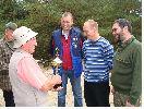 To zwycięska drużyna łowiska Płecno, która zdobyła puchar v-e łowczego za 2009 r