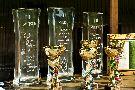 """8 lipca 2012 roku II Zawody o """"PUCHAR WÓD  MINERALNYCH CECHINI"""" na strzelnicy myśliwskiej LZD  Krynica – Zdrój – puchary dla zwycięzców."""